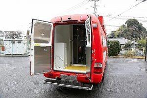 消防車両用シャワー室(外観)